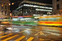 Abendverkehr am Bankenplatz