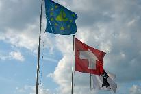 Flaggen Schweiz Basel und Dreiland