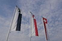 Flaggen Schweiz, Basel-Stadt und Basel-Landschaft